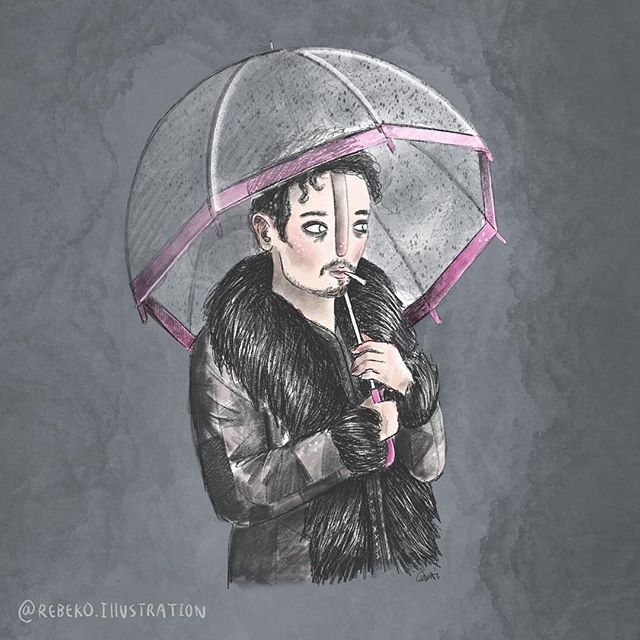 ▪️Just finished watching The Umbrella Academy on Netflix. Such an addictive show and the music😍 Had a bit of a play with textured brushes in this portrait of Klaus. Now I have to find another show to binge hmmmm🧐 . . . #umbrellaacademy #theumbrellaacademy #klaushargreeves #fanart #dunedinartist #dunedinillustrator #nzillustrator #digitalportrait