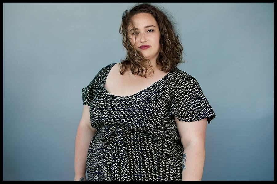 Myriam lors des shootings du Fat Squad 2018. Crédit: Julie Artacho