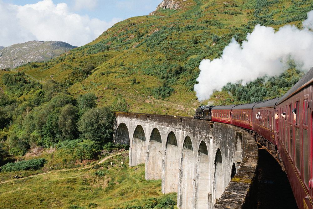 Jacobite Steam Train Ft William Mallaig Glenfinnan Viaduct