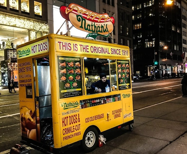 Nathans Famous NYC Food Cart