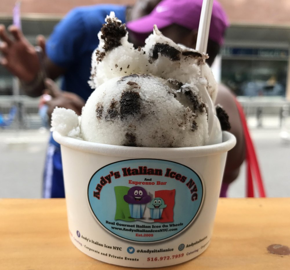 Andy's Italian Ice Cookies and Cream