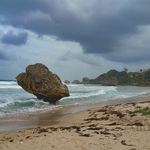 Bathsheba Beach: Destination for surfers on the rough and frothy Atlantic