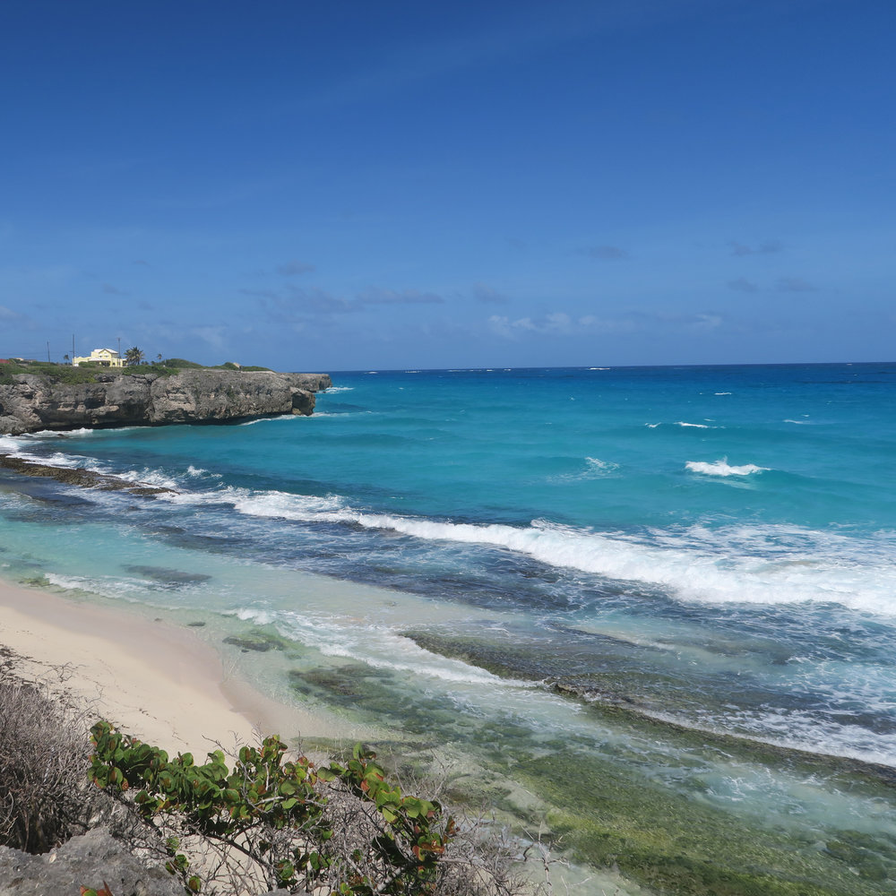 Secluded Beach with white coral sand
