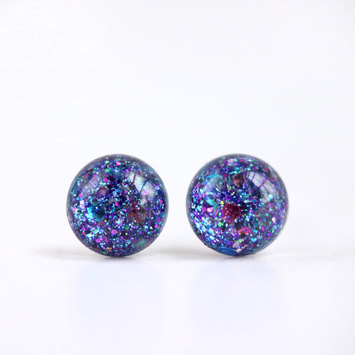 earrings glitter silver of product