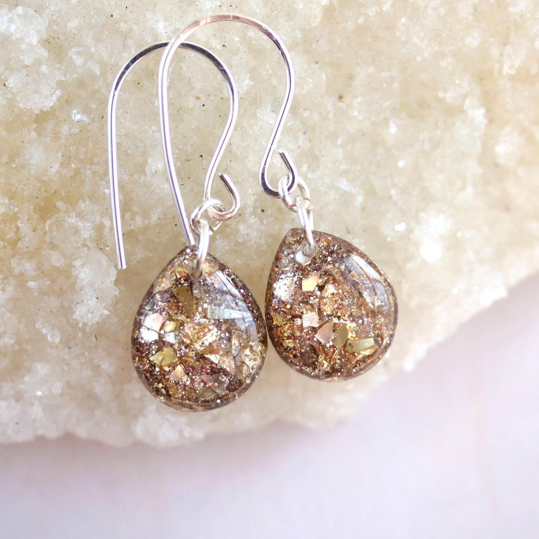 Miss Matched Glitter Tear Drop Earrings