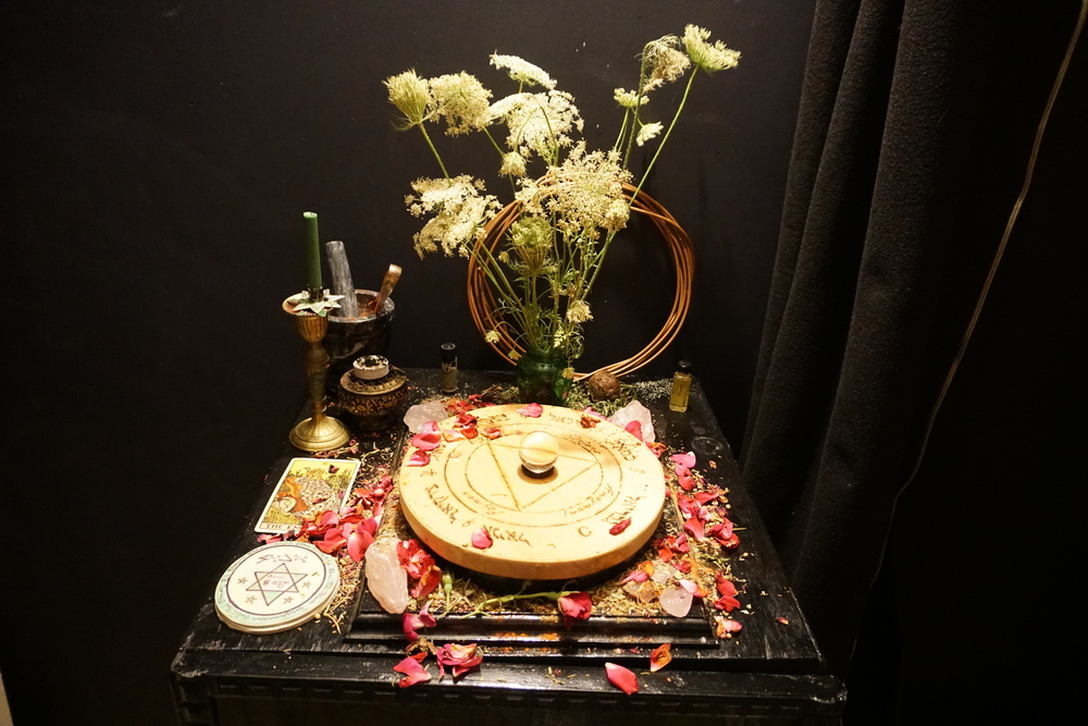 The Altar set up for a Conjuration of the spirits of Venus.