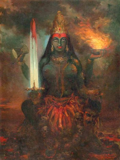 """Kali's task is to annihilate that which stands between us and the Divine. She's frightening to the ego, but infinitely beautiful to our soul."" — Mirabai Starr"