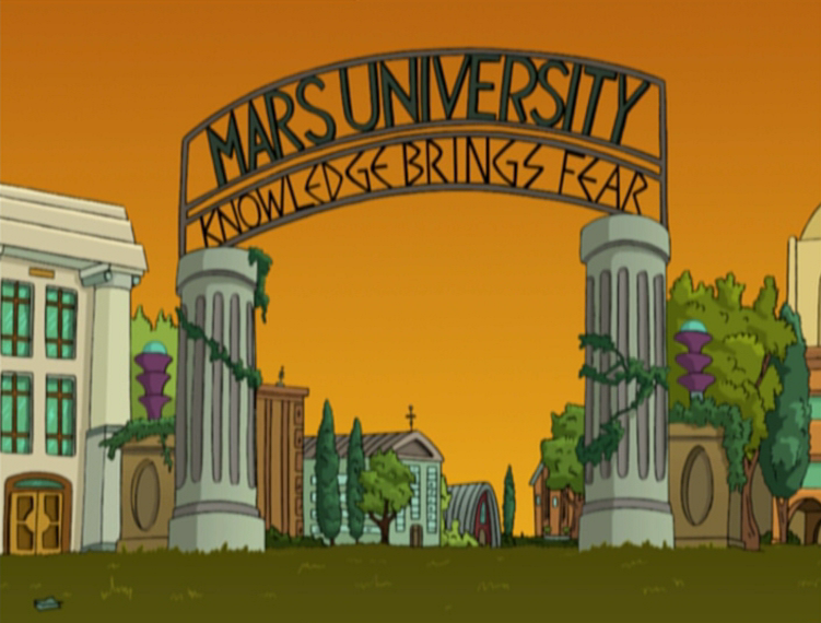 """Mars University"" Season 1, Episode 11 of Futurerama"