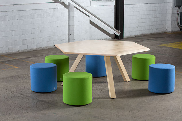 "Sixinch ""Hex"" table"