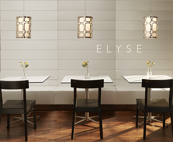 Elyse Booth       Elegant. Sophisticated. Beautiful...but Elyse is so much more.      This modular booth system can be arranged in a variety of seating configurations and upholstered in the    fabric of your choice. The innovative design allows for more compact shipping...which saves money!