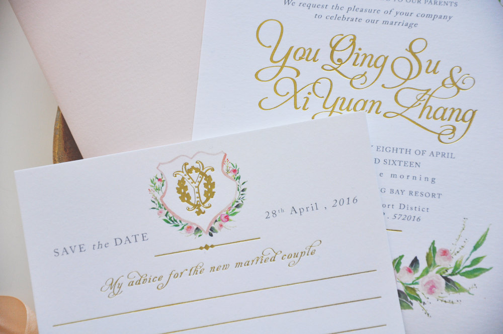 PERSONALISED WEDDING STATIONARY — STYLED BY JUNO