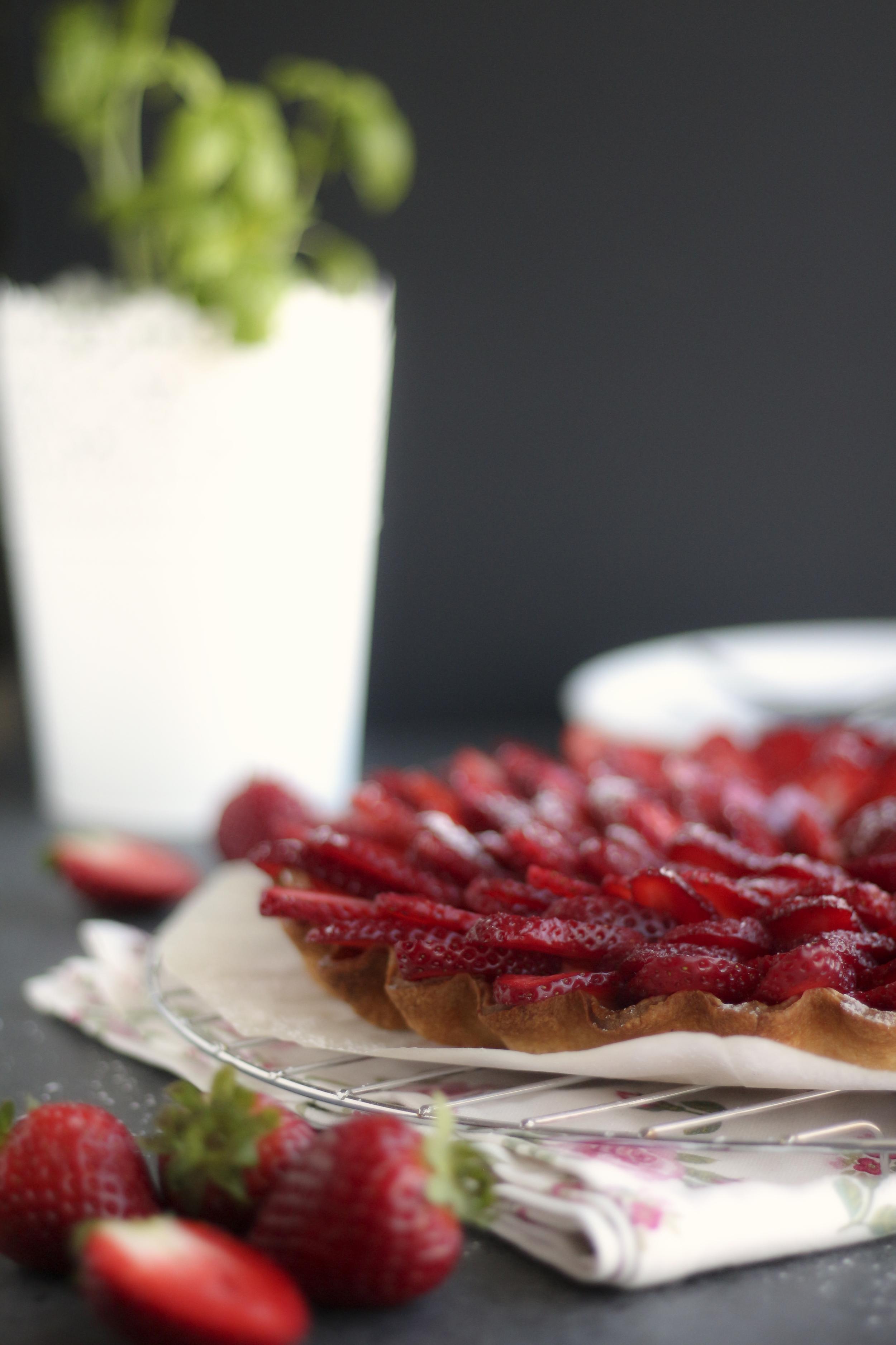 tarte de morangos