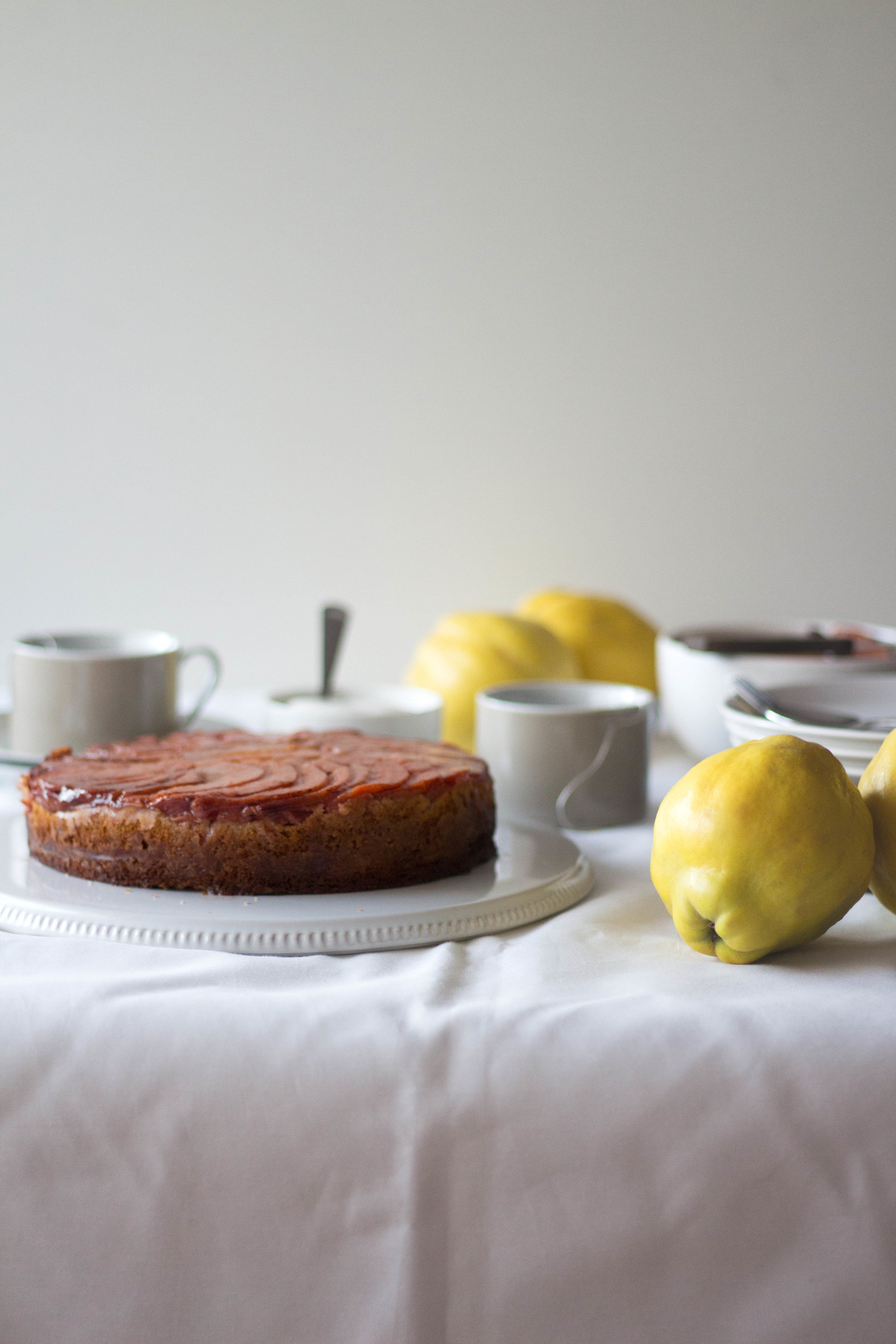 Quince upside down cake5