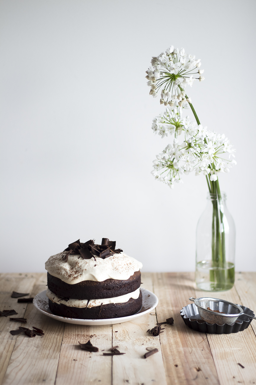 Dark chocolate Cake w Caramel Mascarpone Cream_1