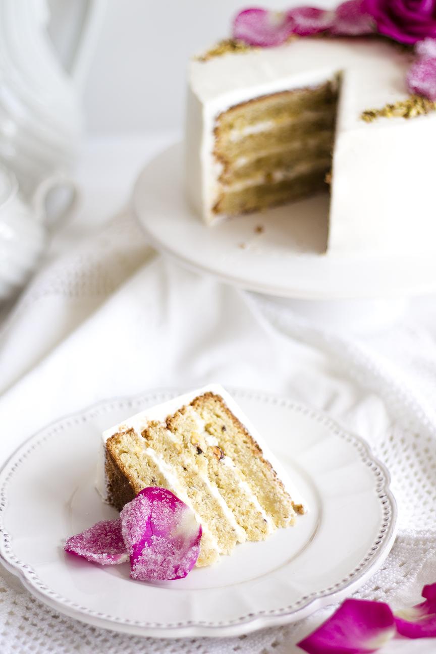 Pistachio Rose Cake2