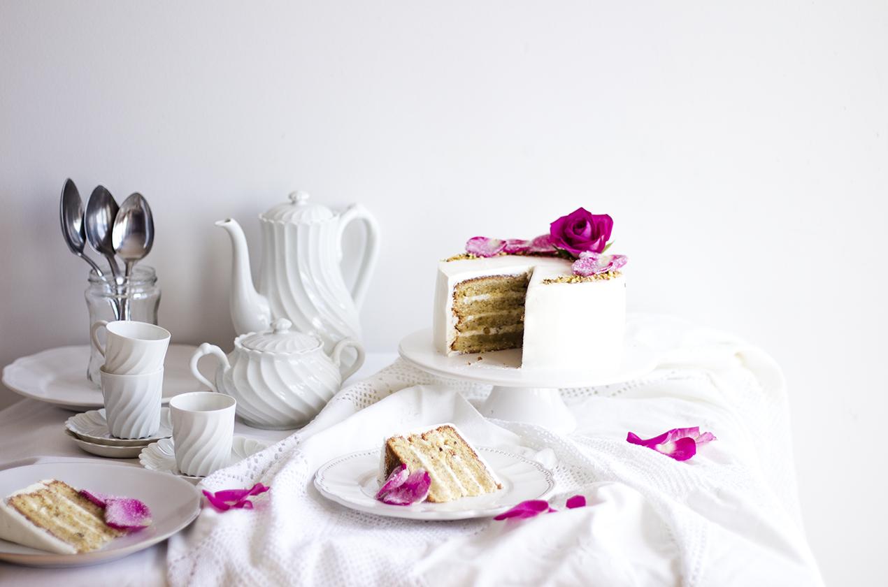 Pistachio Rose Cake3