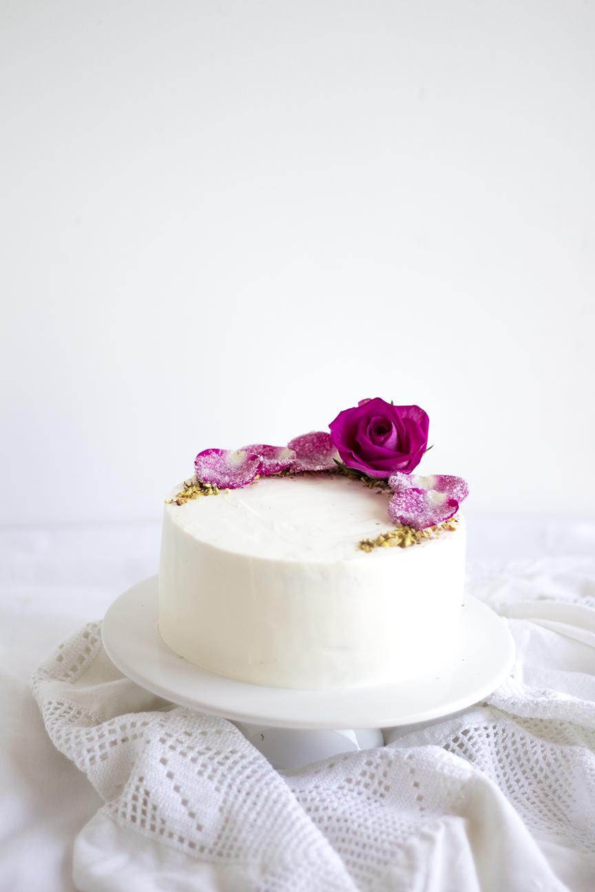 Pistachio Rose Cake8