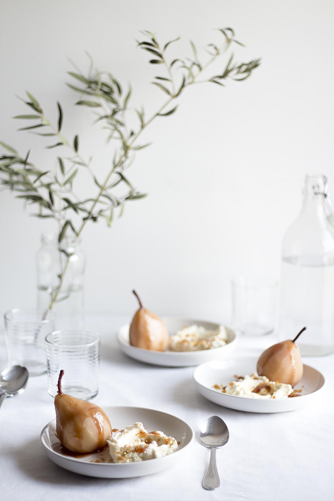 Poached Pears w Pistachio Praline5