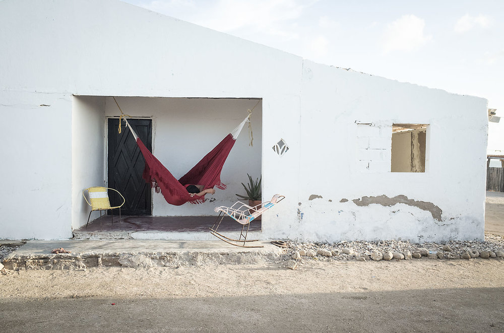 Afternoon nap in Cabo de la Vela, Colombia.