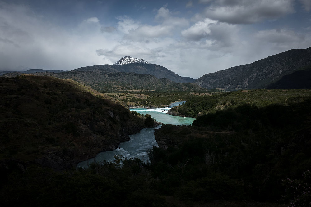 Cloud passes over Río Baker in central Patagonia.