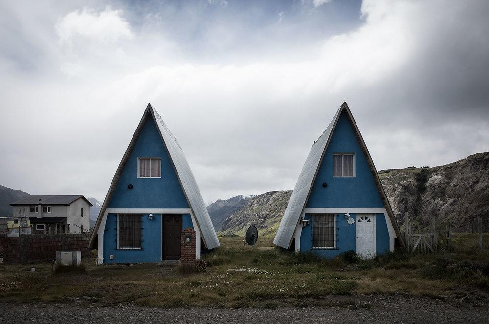 Houses in El Chaltén, Argentina.