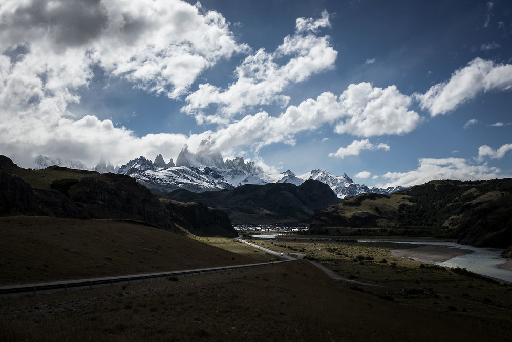 The Fitz Roy massif sits overlooking the climbing village of El Chaltén.