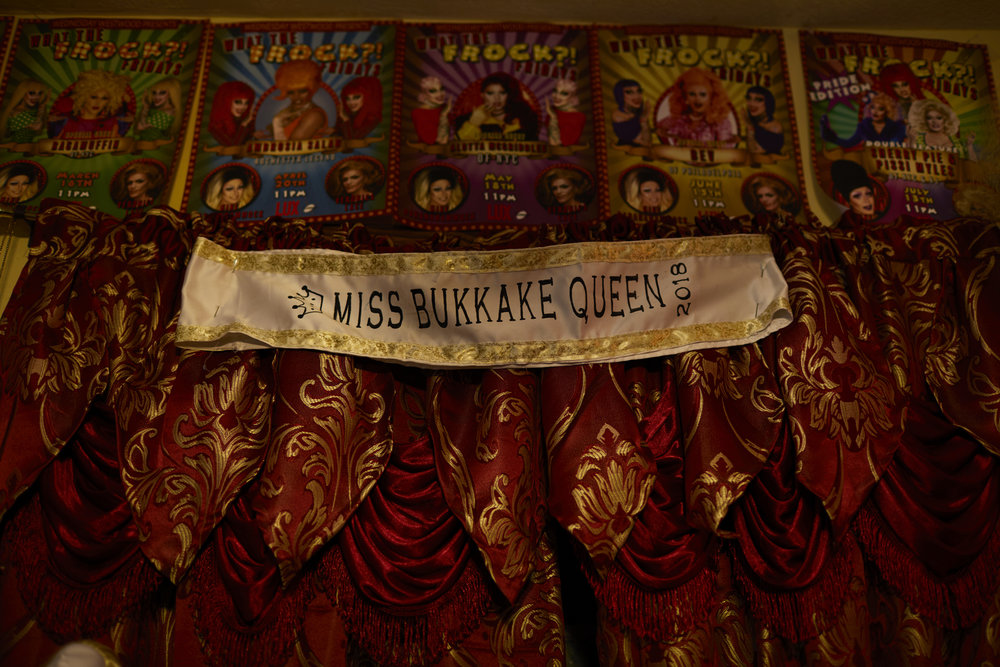 A detail from Wednesday Westwood's wardrobe room at her home in Rochester, N.Y. Feb 15, 2019. Wednesday Westwood is a well-known drag queen in Rochester, N.Y. and organizes the monthly drag show What The Frock Friday at Lux Lounge. Westwood has been performing drag for seven years and a practices American Traditional tattooing. Feb 15, 2019 marks the two year anniversary of WTFF.