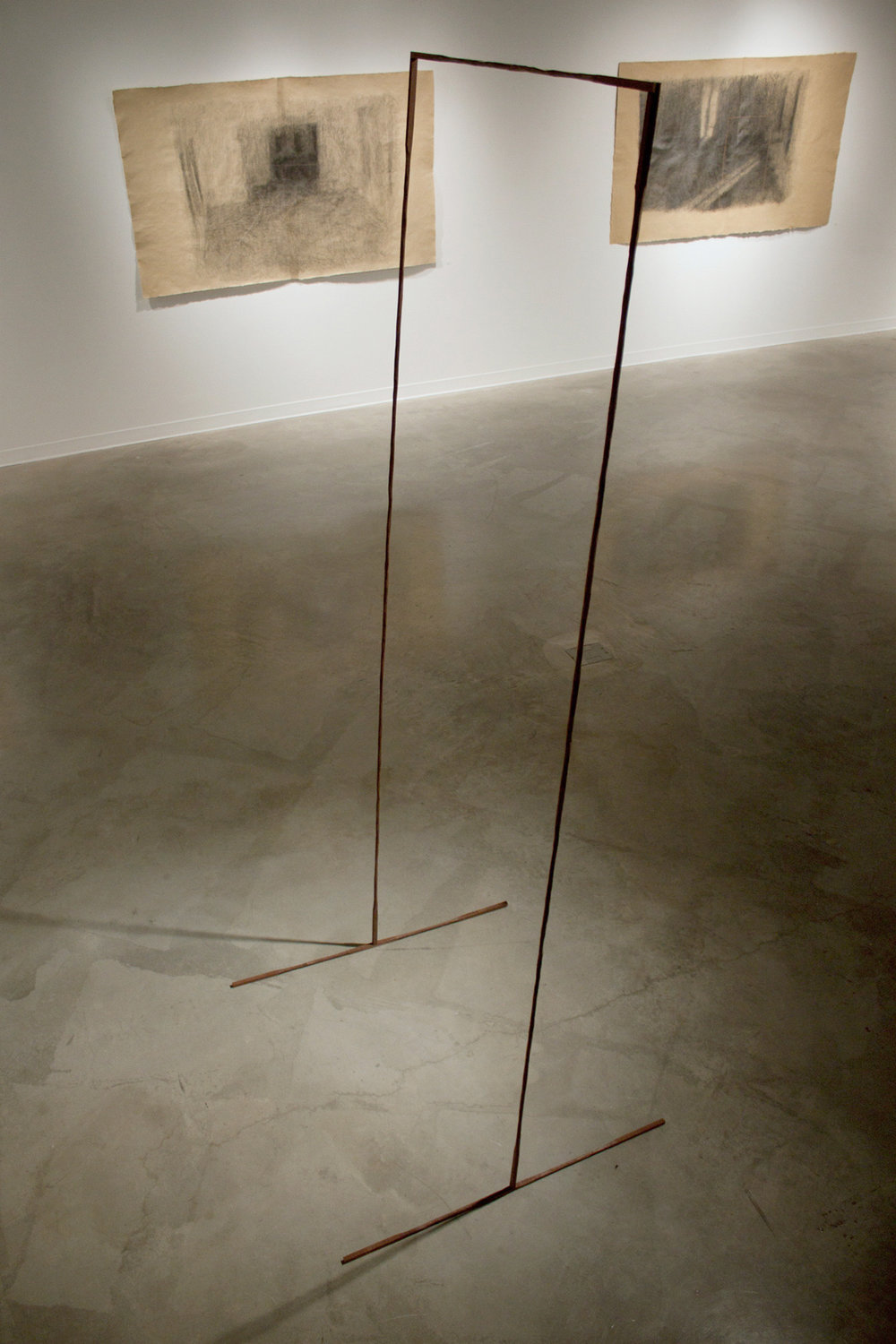 Connect , 2014, wood, 38 x 36 x 96 in. Pictured at George Mason University, Fairfax, VA