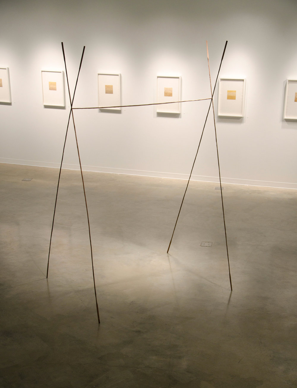 Cut , 2014, wood, 64 x 54 x 105 in. Pictured at George Mason University, Fairfax, VA(photo: Stephanie Booth)