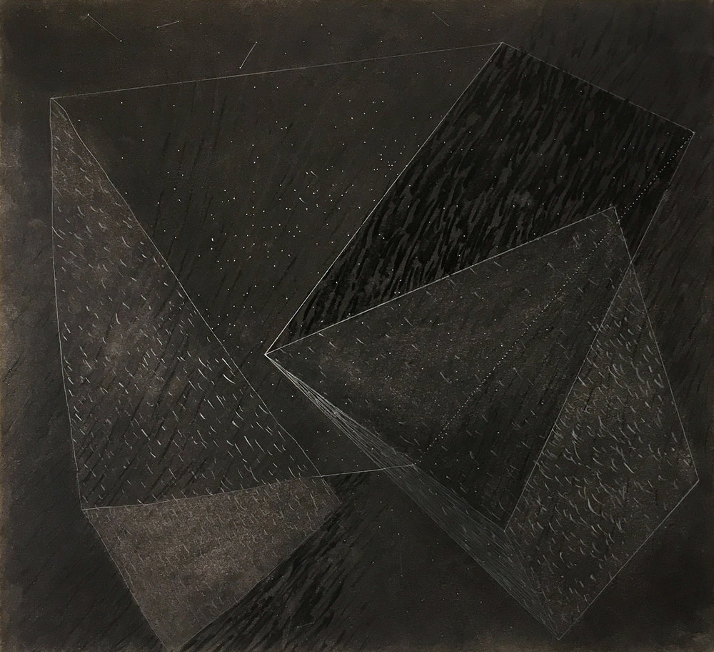 Plate,  2013, charcoal and graphite drawing, 12 3/4 x 14in.