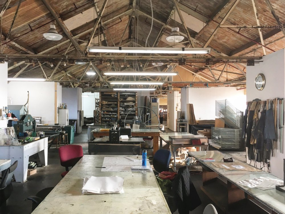 The print studio at Kala.