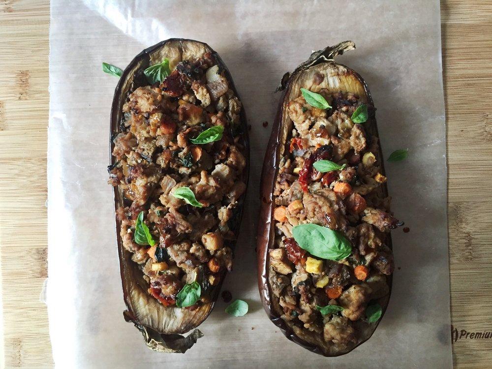 basil-chicken-eggplant-boat