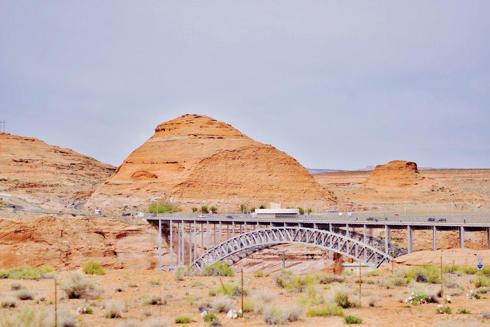bridge to carl haden dam