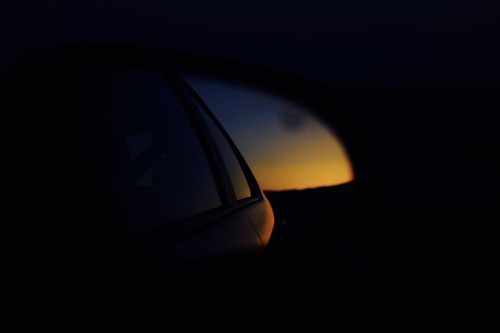 sunset at arizona border