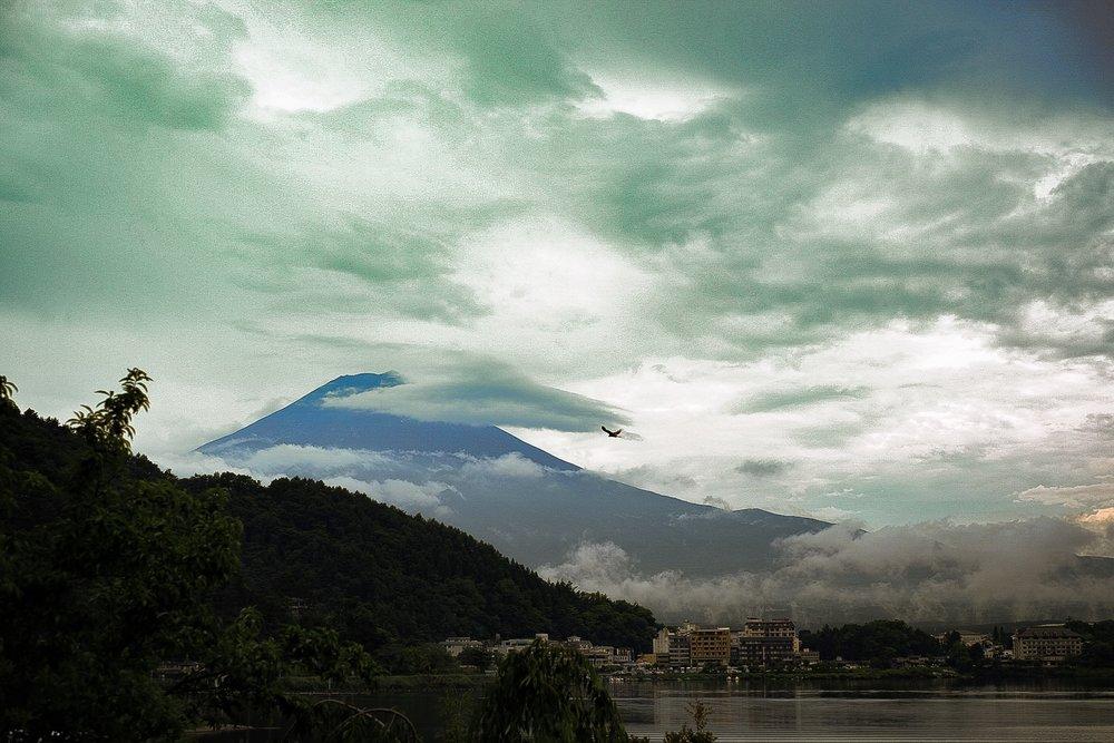 fuji mountain after the rain