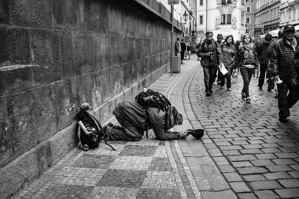 Beggar, Prague