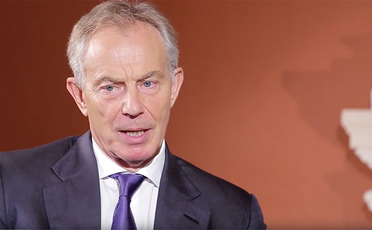 Former British Prime Minister Tony Blair.