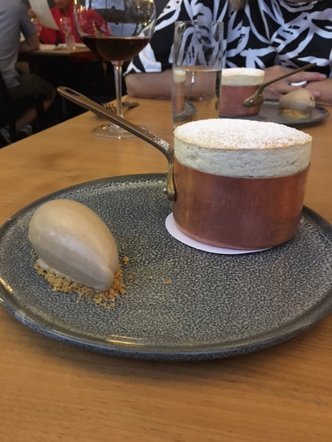 Despite all this food we still did not share dessert. This was a Banana Souffle with Peanut & Milk Chocolate Ice cream. Rich and light at the same time.