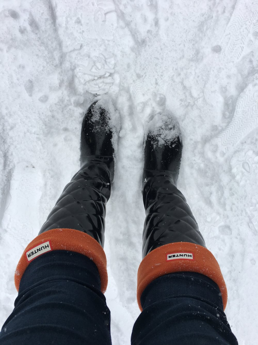 I highly recommend boot liners/warmers. I bought them to keep me warm in the snow and they were the best things I've ever bought!