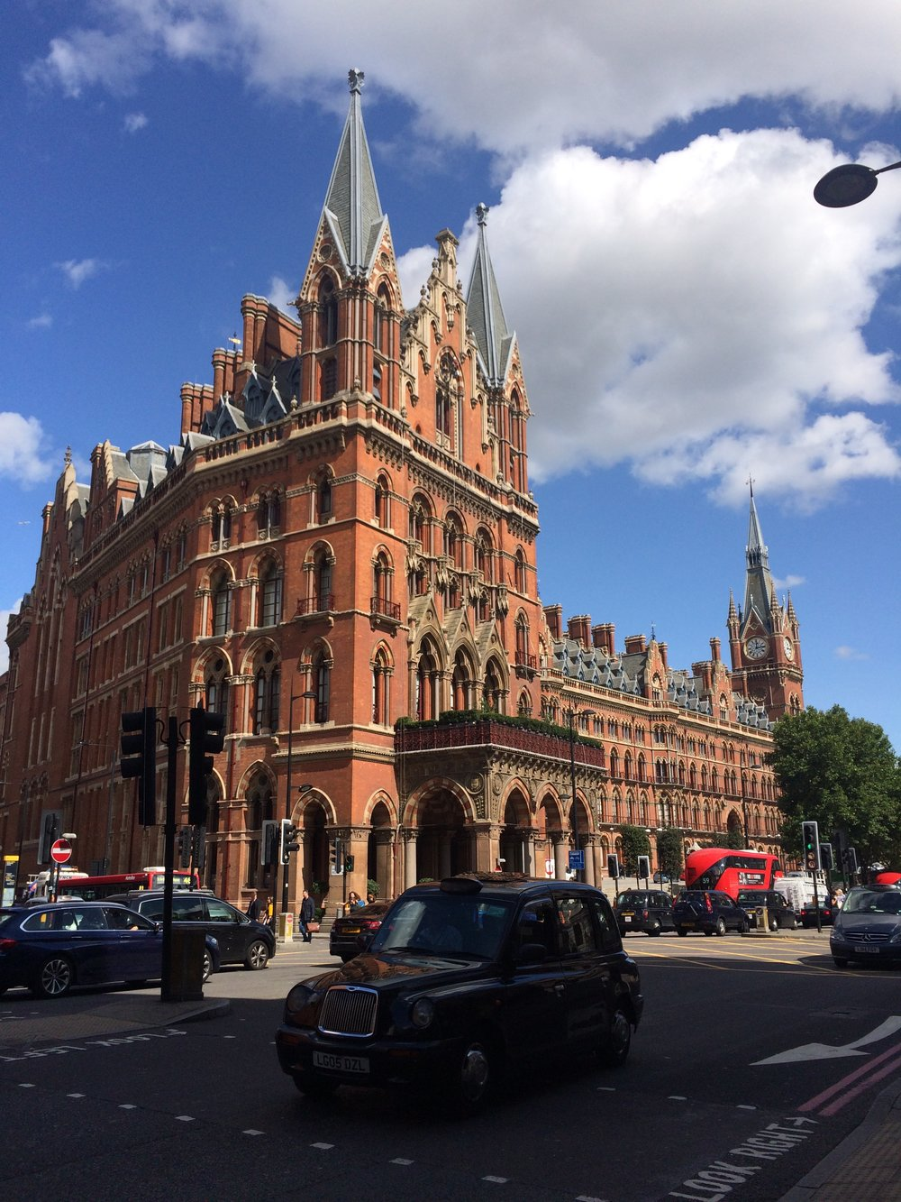 St. Pancras Station on a bright, sunny day (Is this really London?!?)