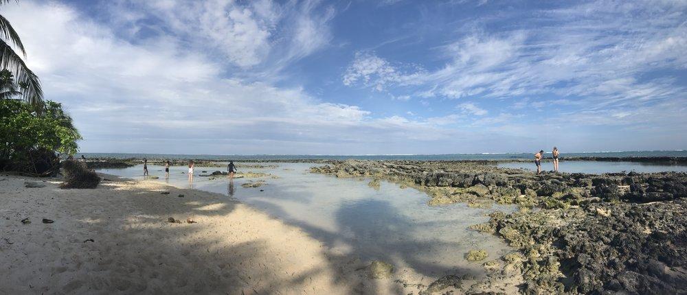 My favorite of the three: Guyam Island, full of beautiful rock pools