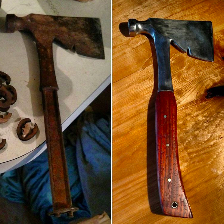 Before and after for the Ax.