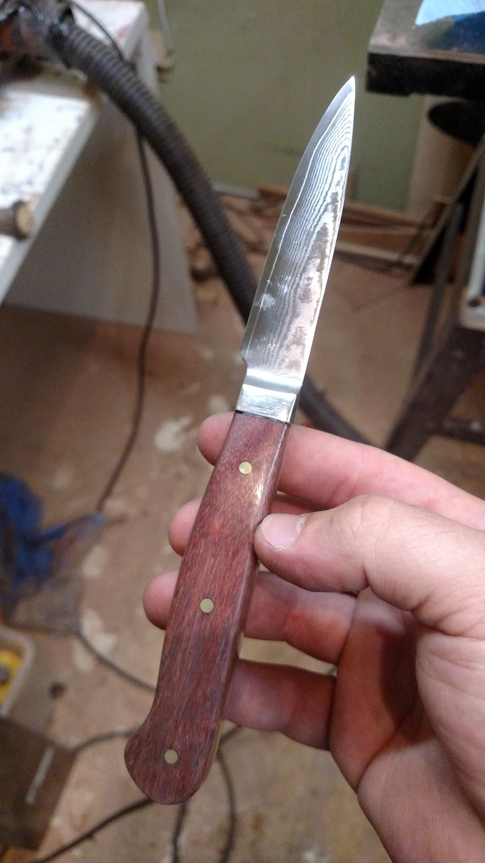 The finished paring knife for my moms birthday present.