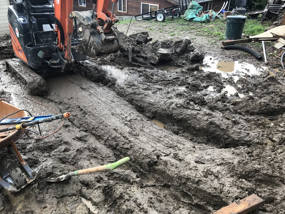 Using an excavator in muddy soil was not the most fun but playing the don't let the excavator sink in the mud game definitely made it quite exciting.