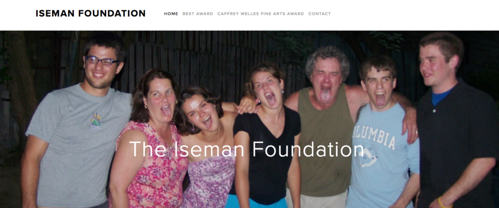 Screenshot of the Iseman Foundation Website.