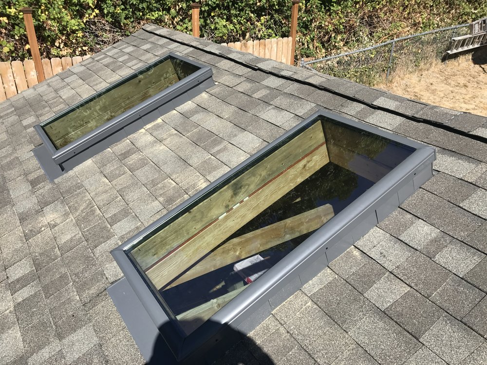 Two skylights installed!