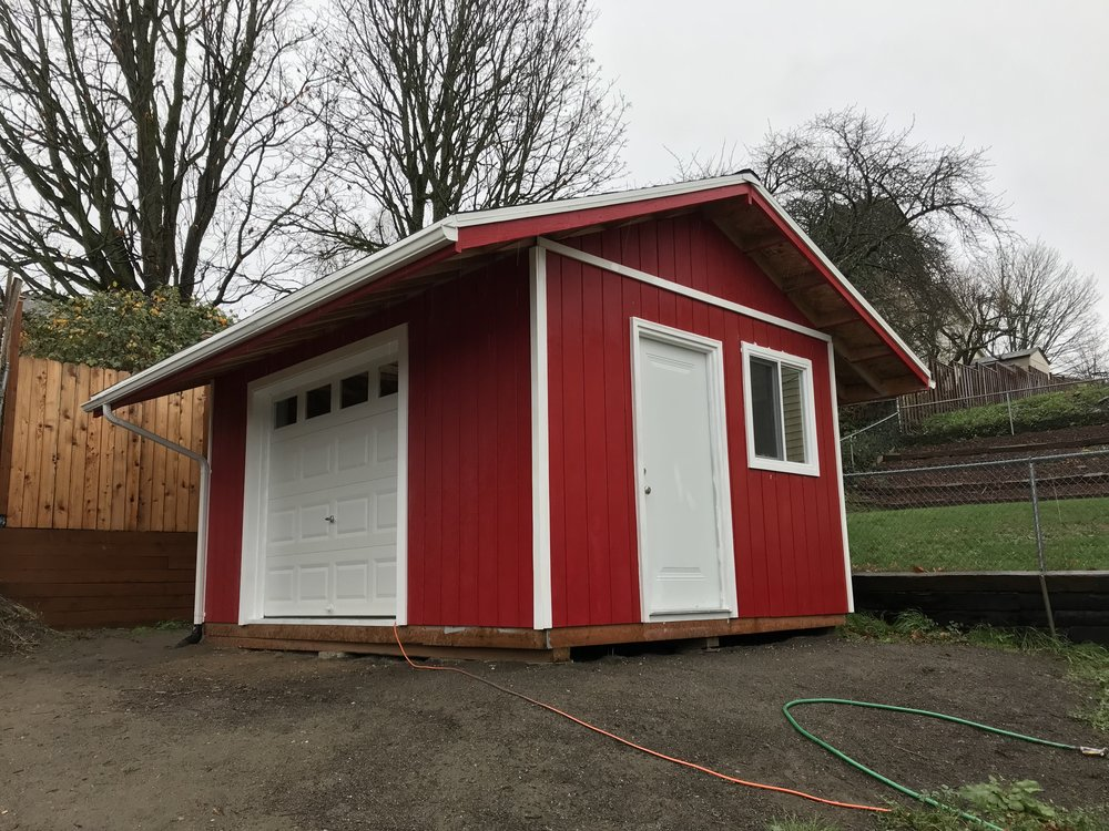 The finished Big Red Shed!