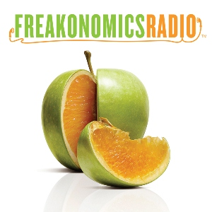 Freakonomics Radio   A highly produced classic podcast by Stephen Dubner & Steve Levitt.  45 min