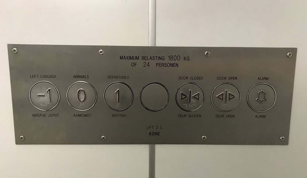 horizontal elevator buttons