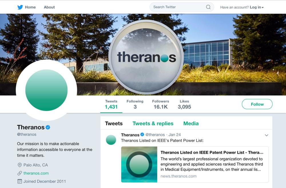 theranos twitter
